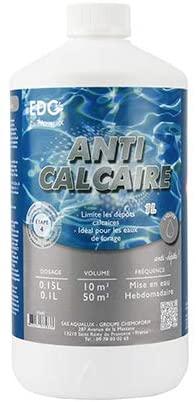 Anti-Calcaire Piscine Edenea vendu en petite quantité 1 litre, lutter contre les dépôts présentation des bonnes solutions meilleur prix