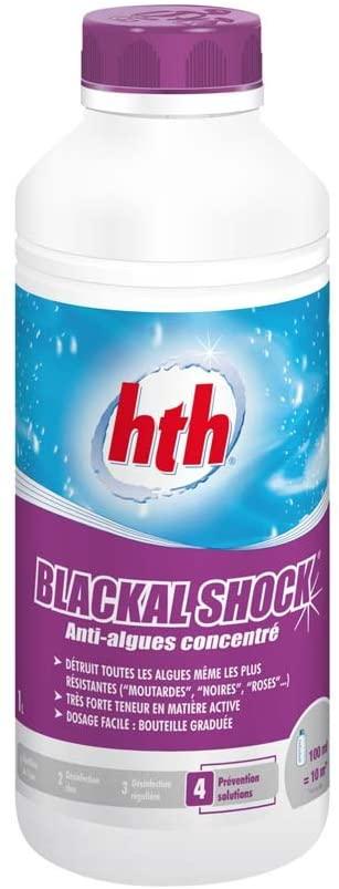 Blackal Shock 1L, un anti-algue concentré pour piscine par HTH spécialiste nettoyage de l'eau de nage.