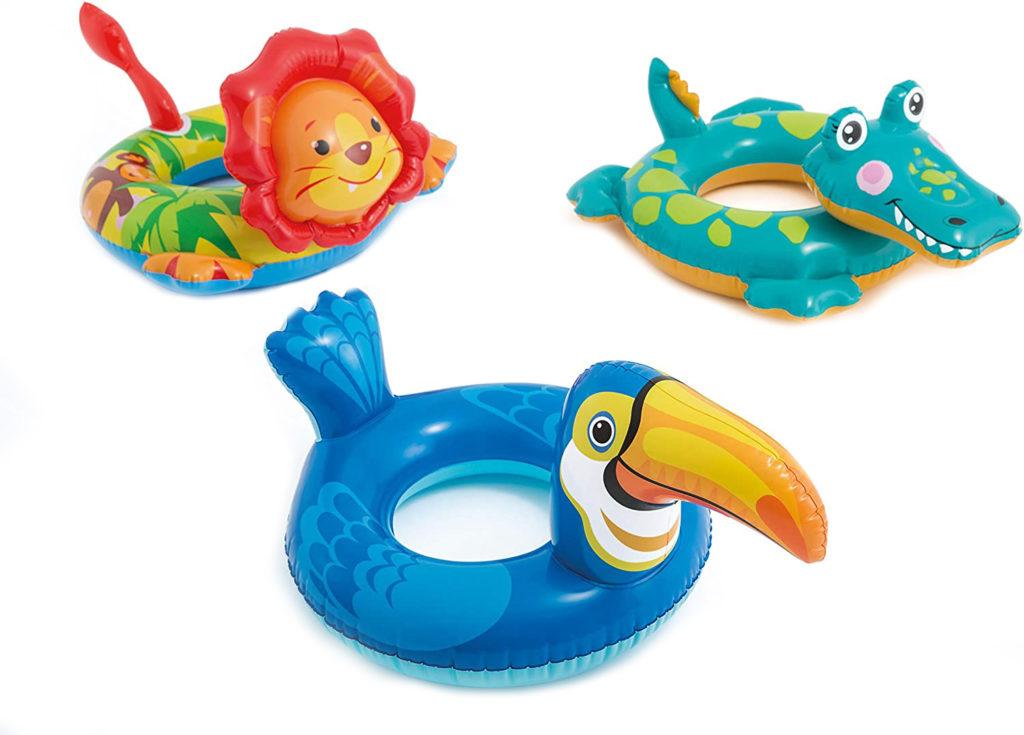 Bouée enfant tête animal de 3 à 6 ans Intex matériel pour la piscine sécurité idée d'achat pas cher