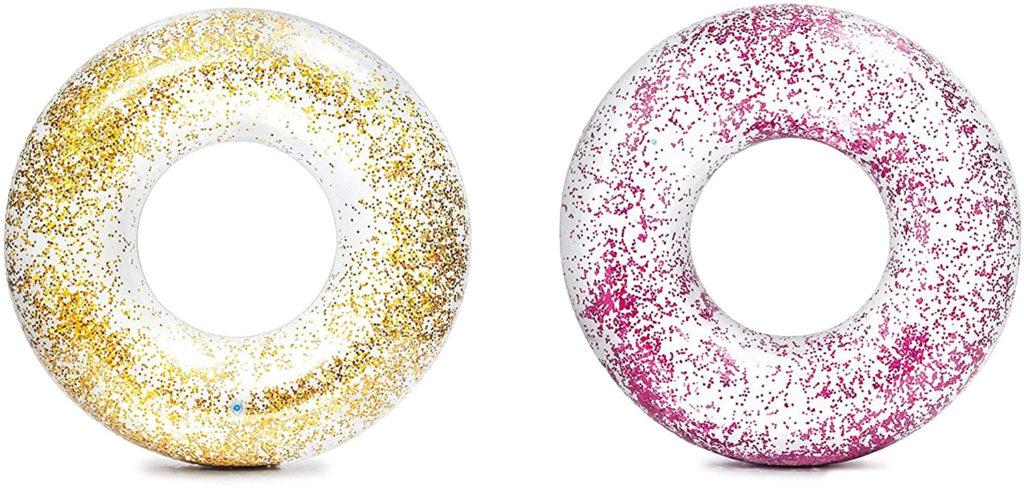 Bouée glitter Doré et Rose 119cm comparateur des meilleures modèles à acheter pour son bassin de jardin