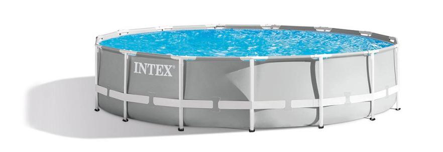 Comment choisir la meilleure piscine hors-sols, les meilleurs conseils d'achats, Intex 26726np prism frame ronde pour nager dans son jardin en été.