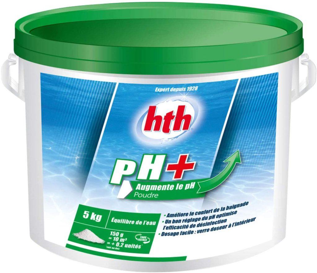 Correcteur de PH trop bas, produit ph+ par HTH augmentation de l'acidité de l'eau correction