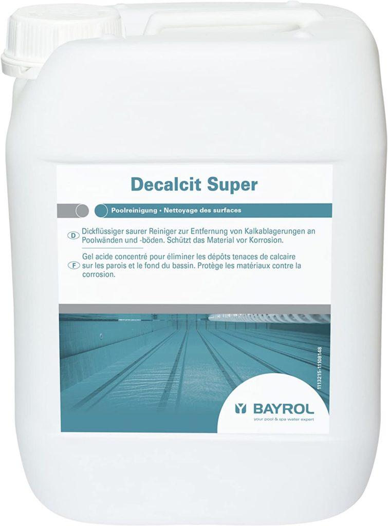 Decalcit Super, Acides nettoyant détartreur piscine bidon 10 L comparateur de prix anti-calcaire piscine test et avis client