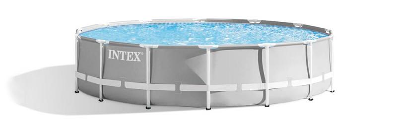 Envie d'aquérir une jolie piscine pour jardin, les piscines tubulaires Intex Prism sont disponible en format rond, choisir le modèle 26720np en kit.