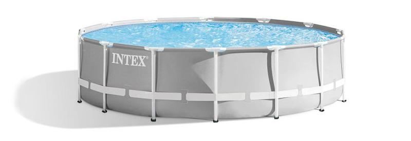 Faire l'achat d'une piscine prism Intex, de référence 26718fr modèle rond à disposer dans le jardin, jolie design pour l'extérieur lors des saisons chaudes.