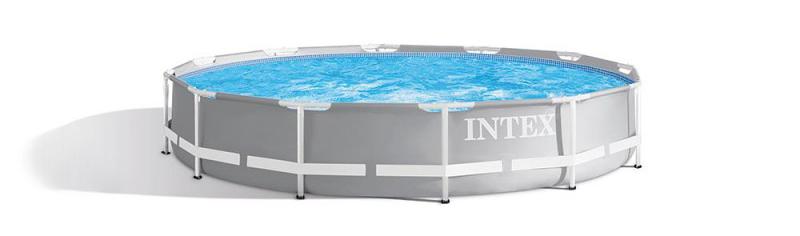 Grossiste en piscine, meilleur prix pour une tubulaire, 26712np de Intex modèle prism frame ronde pour équiper son jardin en été dans la France, la Belgique ou le Luxembourg