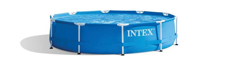 Kit piscinette INTEX Metal Frame arondie 305 x 76 cm , conseil piscine enfant, meilleur prix du marché des piscinistes de la région
