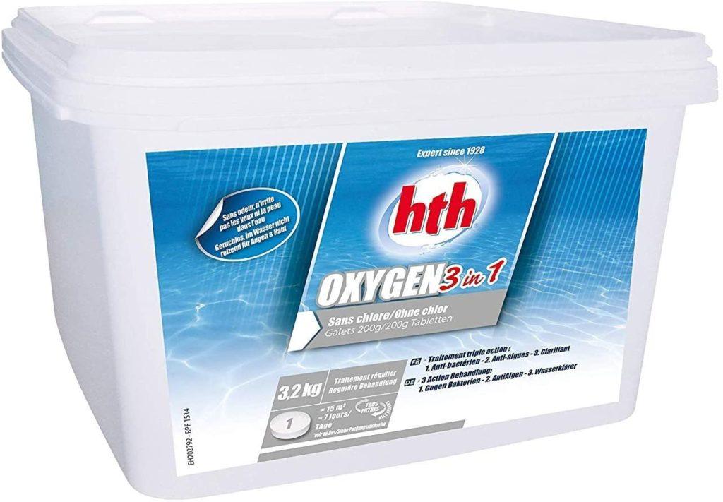 Oxygène Activ' 3 en 1 de HTH format 3,2kg