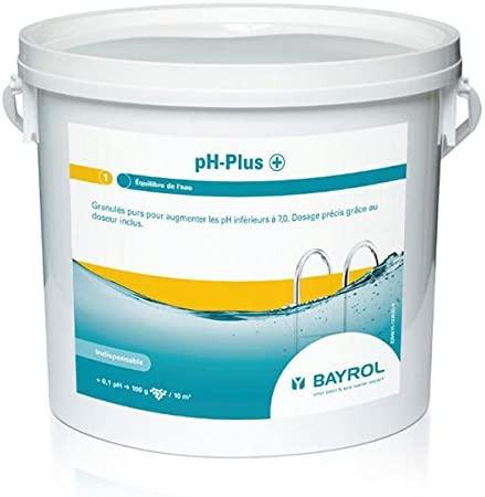Ph Plus en poudre d'un poids de 5kg Bayrol meilleure marque de solution nettoyante de l'eau gestion des paramètres piscine