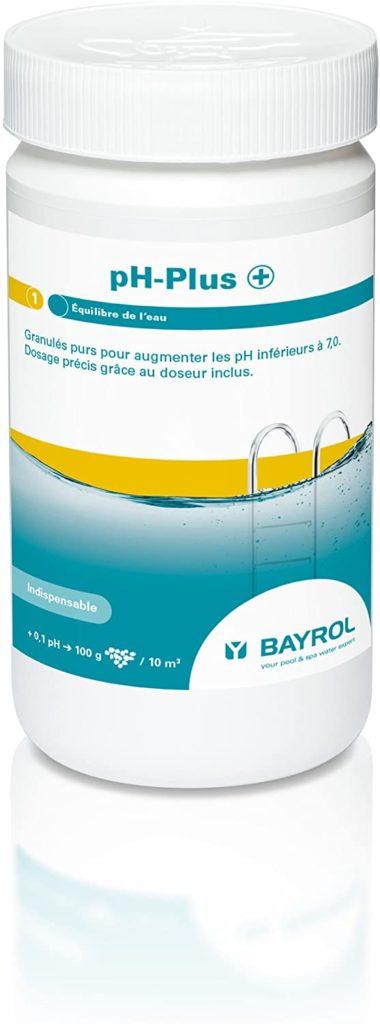 Ph+ format boite de granulé de 1kg Équilibre de l'eau Bayrol augmentation acide solution piscine pour optimiser le ph