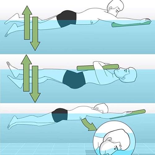 Schéma Planche de natation