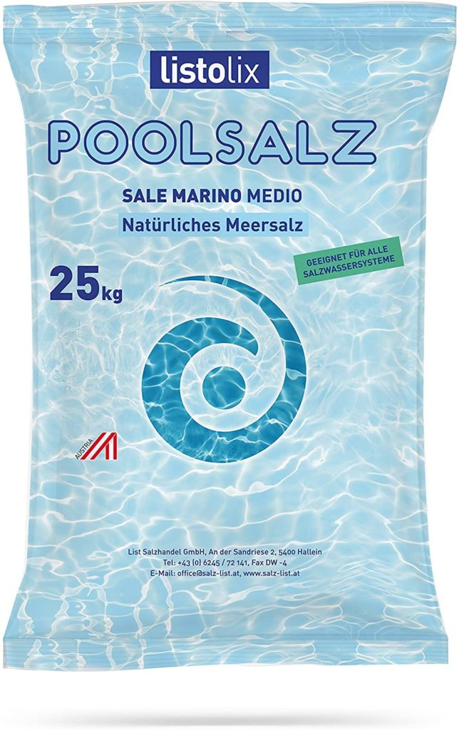 Sel naturel de la Méditerranée pour piscine en sac 25 kg Listolix Poolsalz comparatif des meilleurs produits d'entretien, conseil, test et avis client