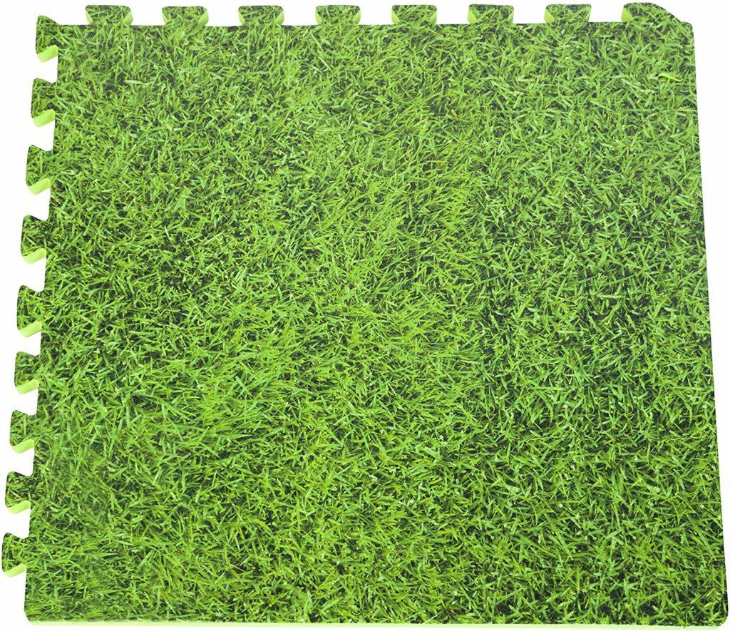 Tapis piscine Gre module imitation herbe idéal pour avoir un beau jardin avec une piscine