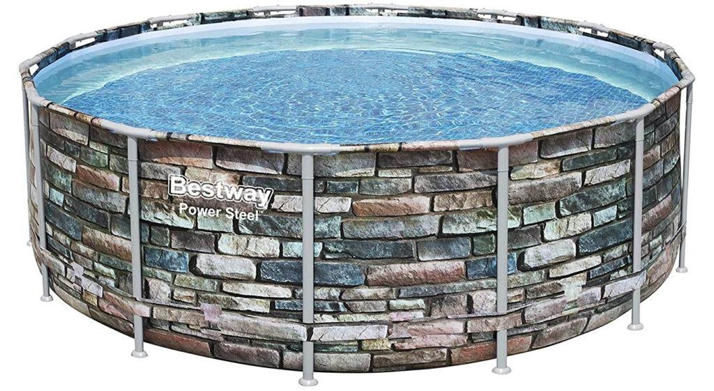 Modèle Power Steel motif spécial pierre, piscine tubulaire 4,27 x 1,22 m 56993