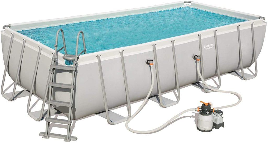 Gamme Power Steel, piscine de  forme rectangulaire 5,49 x 2,74 x 1,22 m 56466 - 8124 litres Bestway une marque au top pour la piscine