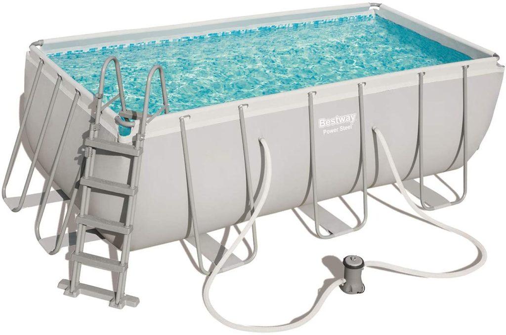 Power Steel piscine Bestway rectangle 4,04 x 2,01 x 1,22 m 56457 - 6478 litres - Pompe de filtration à cartouche