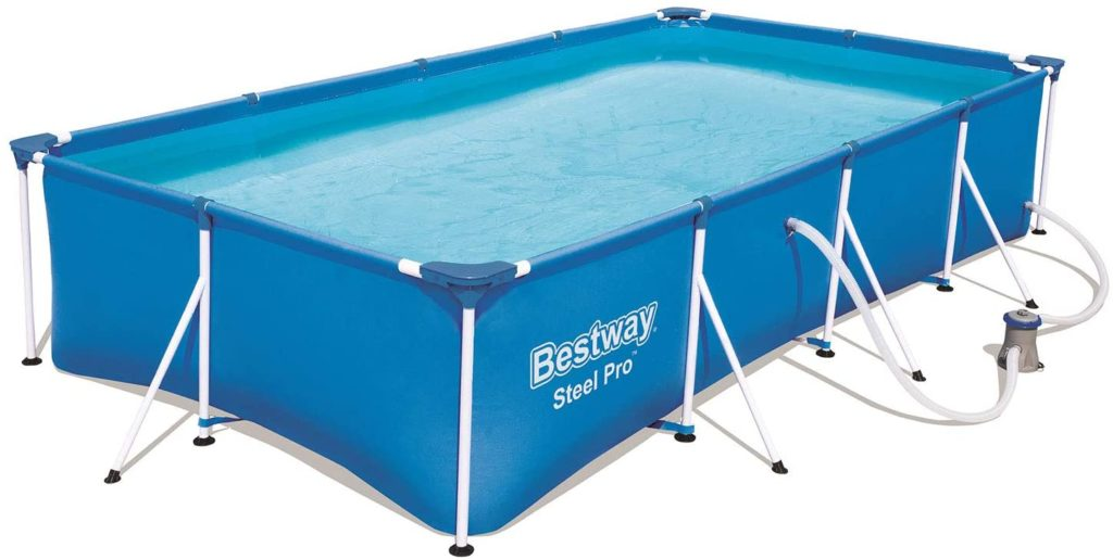 Steel Pro Bestway piscine rectangulaire 4 x 2,11 x 0,81 m 56424  + filtre à cartouche