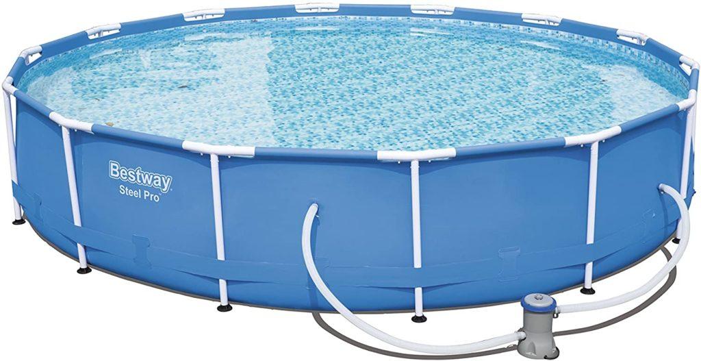 Bassin de nage pour la jardin de gamme Steel Pro Bestway format rond - Taille : 4,27 x 0,84 mBassin de nage pour la jardin de gamme Steel Pro Bestway format rond 4,27 x 0,84 m