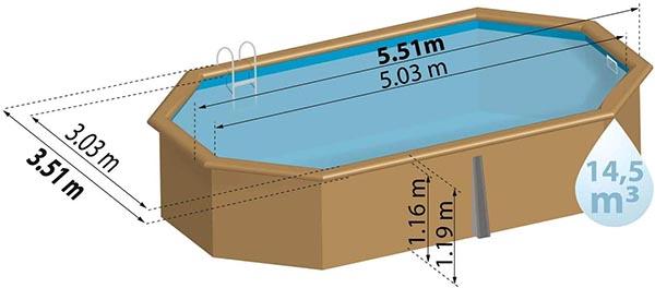 choix de taille piscine bois