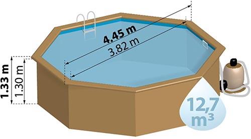 format piscine bois SunBay Alcira