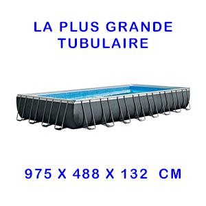 grande piscine tubulaire rectangulaire